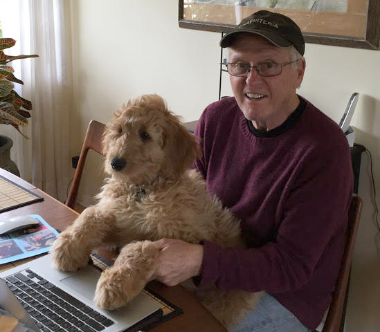 Fleisher and his trusty assistant Yogi.