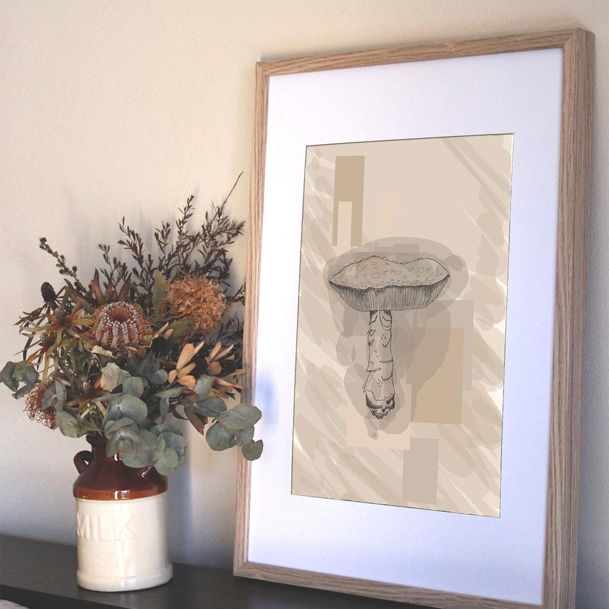Mushroom Print from $30.00