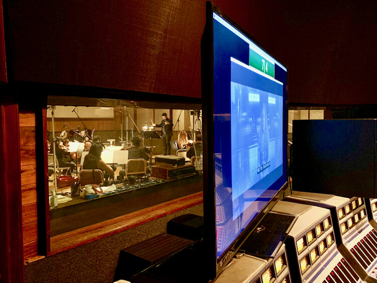View from Studio A booth into the Live Room