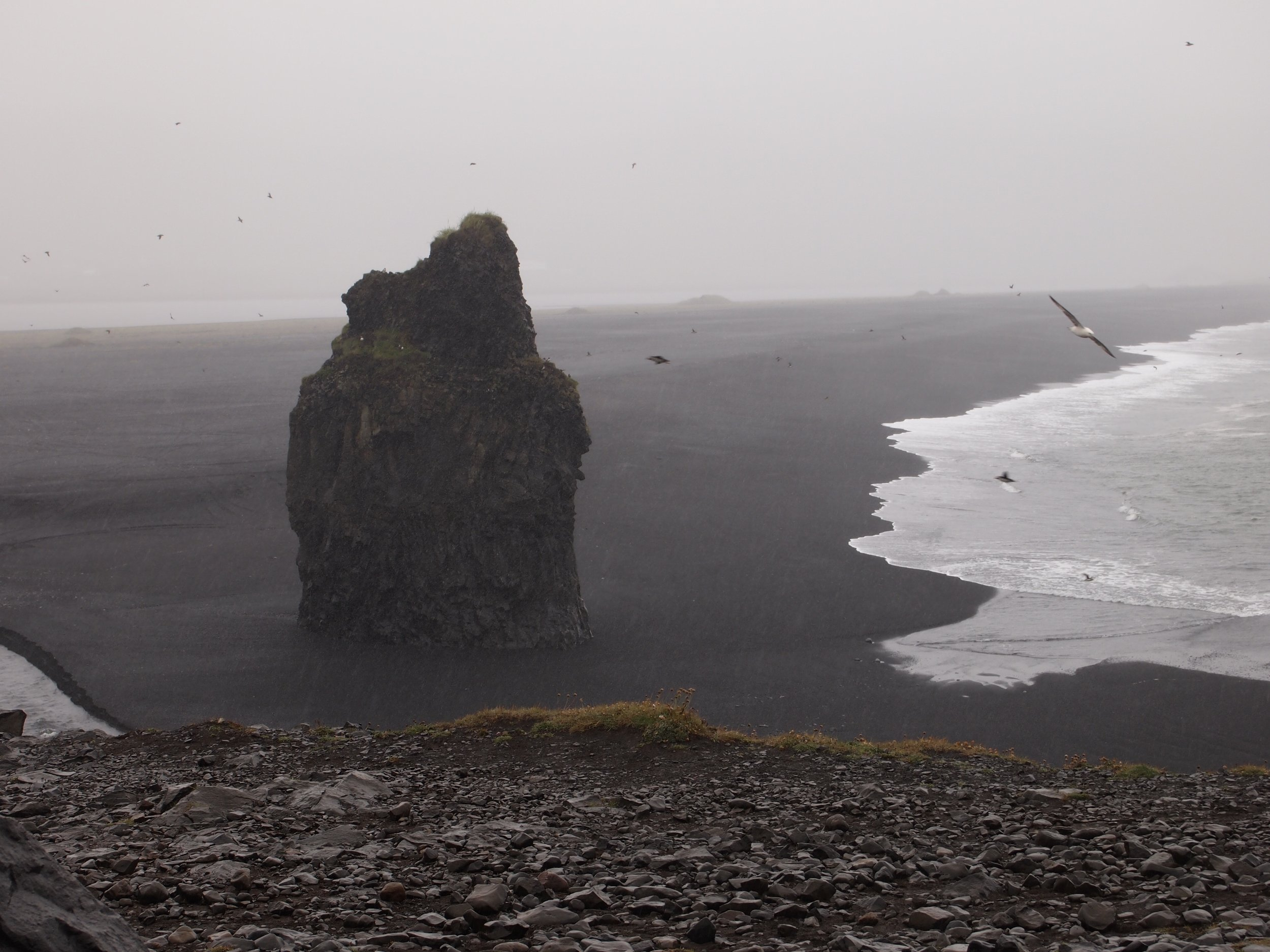 """Black Sand Beach in Iceland - Cover Art for our CD """"Rough Cut Music 3"""""""