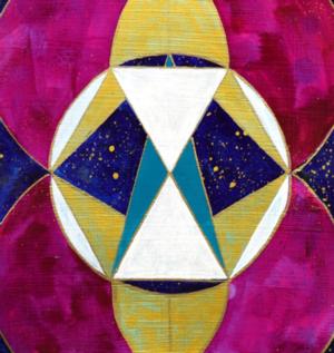 Julie Davis Veach, Sacred Reflection, 2018 Acrylic  6.5 x 6.5 in NFS