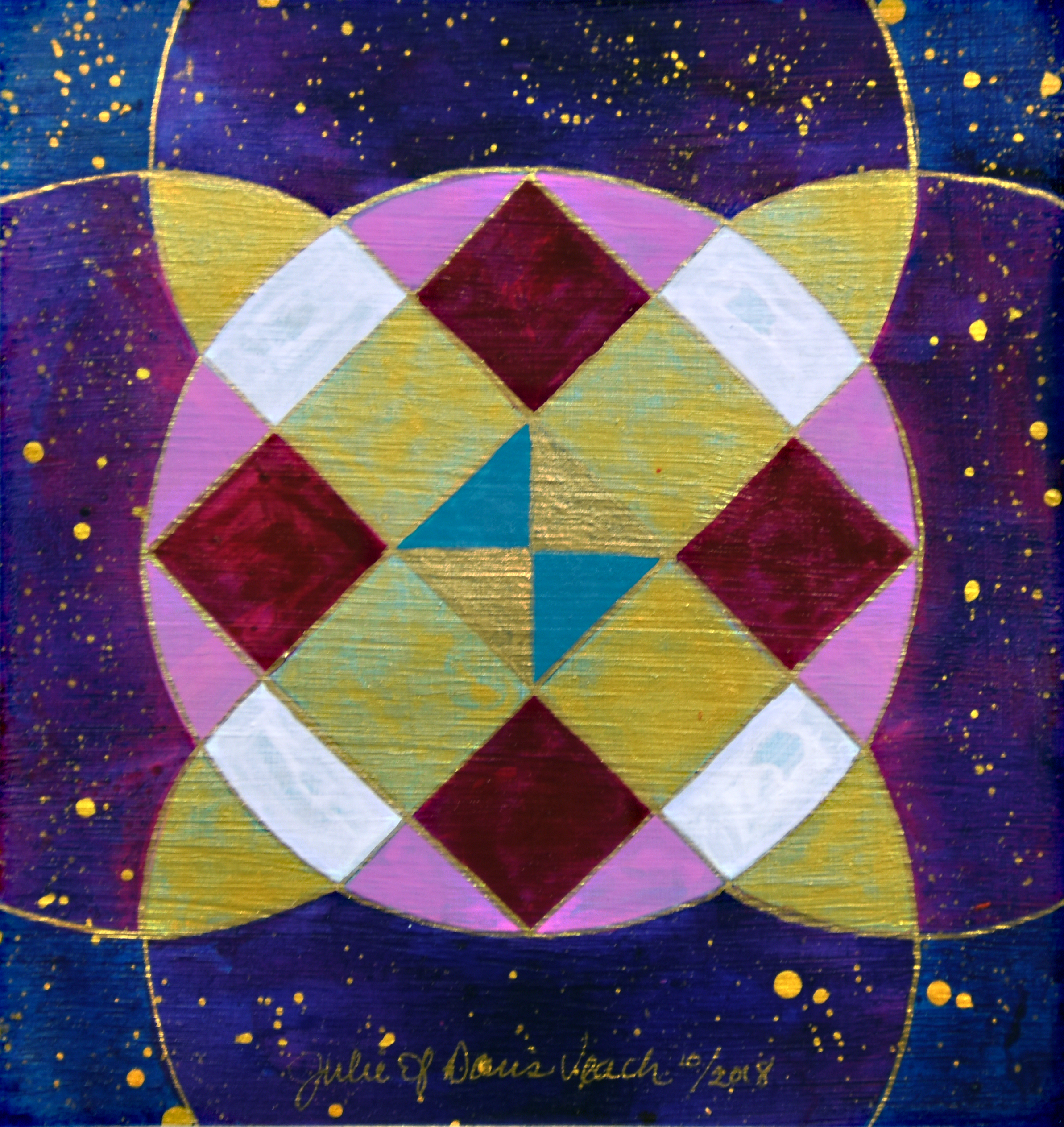 Julie Davis Veach  Beyond Balance 2018 Acrylic 6.5x6.5in.  NFS
