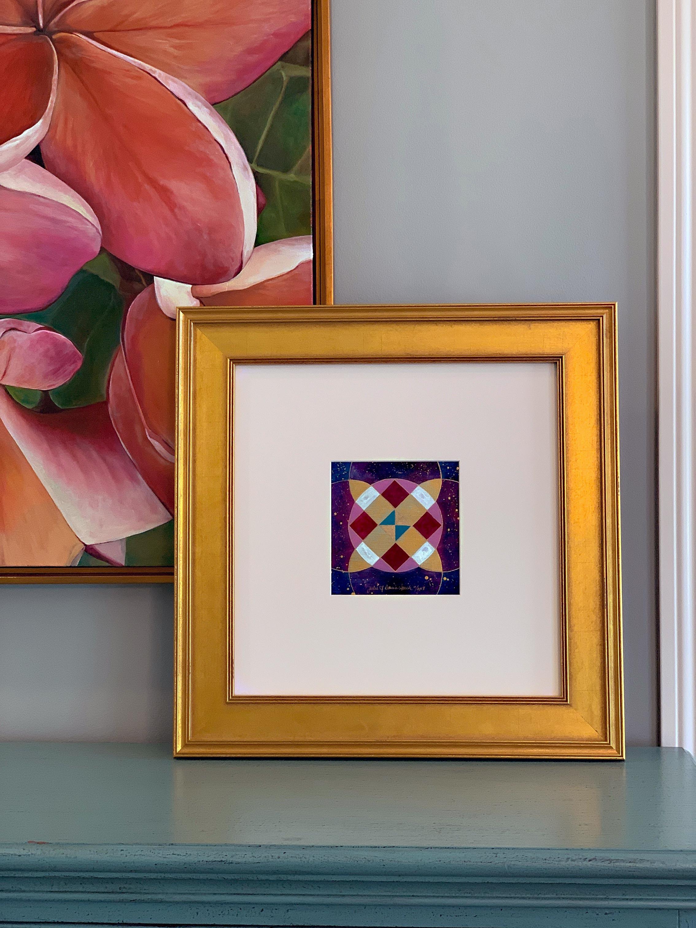 Julie Davis Veach  Beyond Balance 2018 6.5x6.5in. Acrylic on Paper (framed)