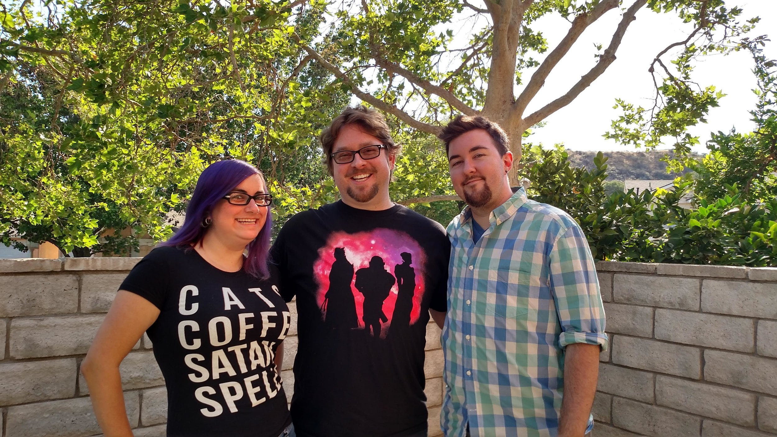 Kitty, Michael, and Chris Angel in May of 2015