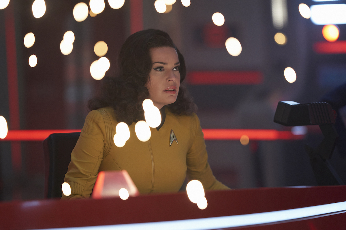Rebecca Romijn as Number One in Star Trek: Discovery