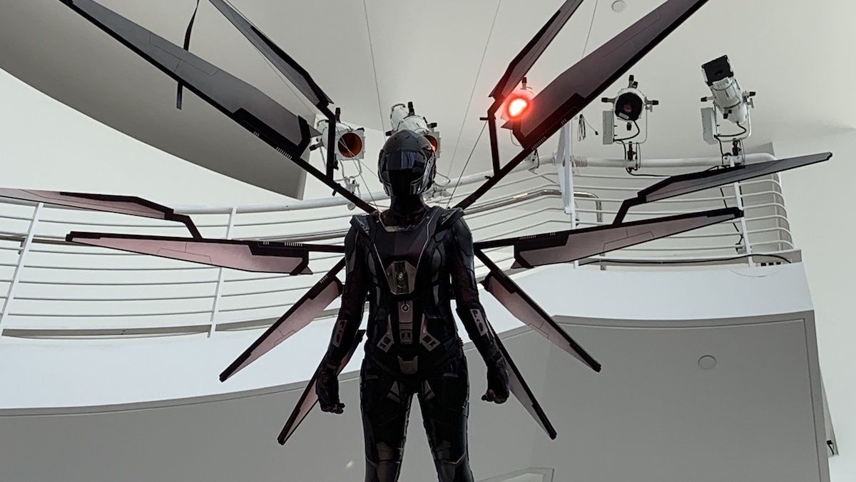 "Star Trek: Discovery's Red Angel suit, at the ""Fight For the Future"" exhibit"