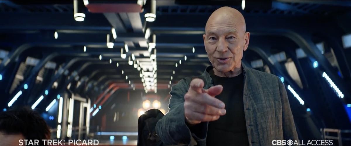 Sir Patrick Stewart as Jean-Luc Picard in  Star Trek: Picard