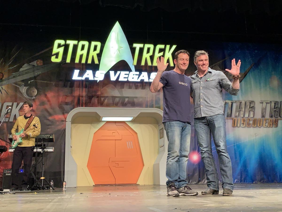Jason Isaacs and Anson Mount, Star Trek Las Vegas 2019