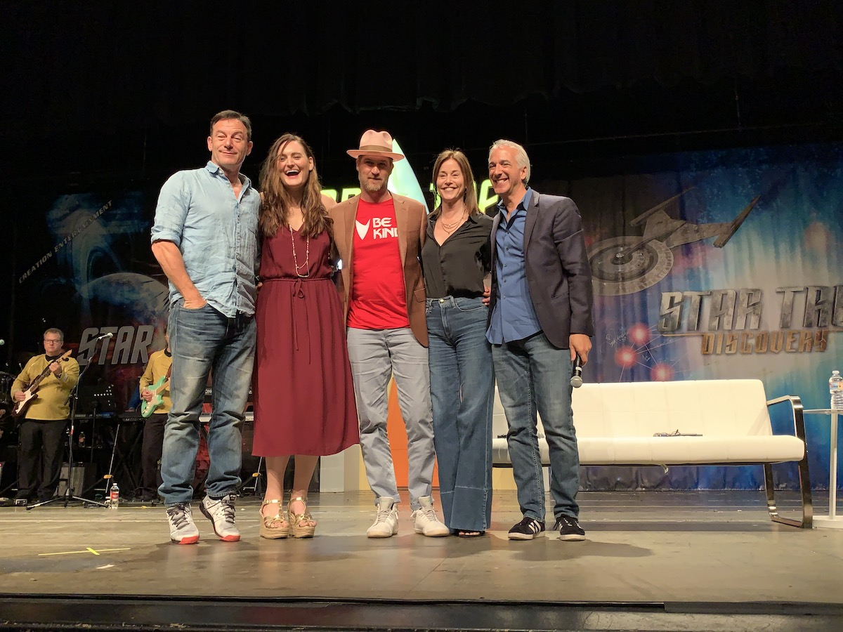Jason Isaacs, Mary Chieffo, Kenneth Mitchell, Jayne Brook and Scott Mantz, Star Trek Las Vegas 2019