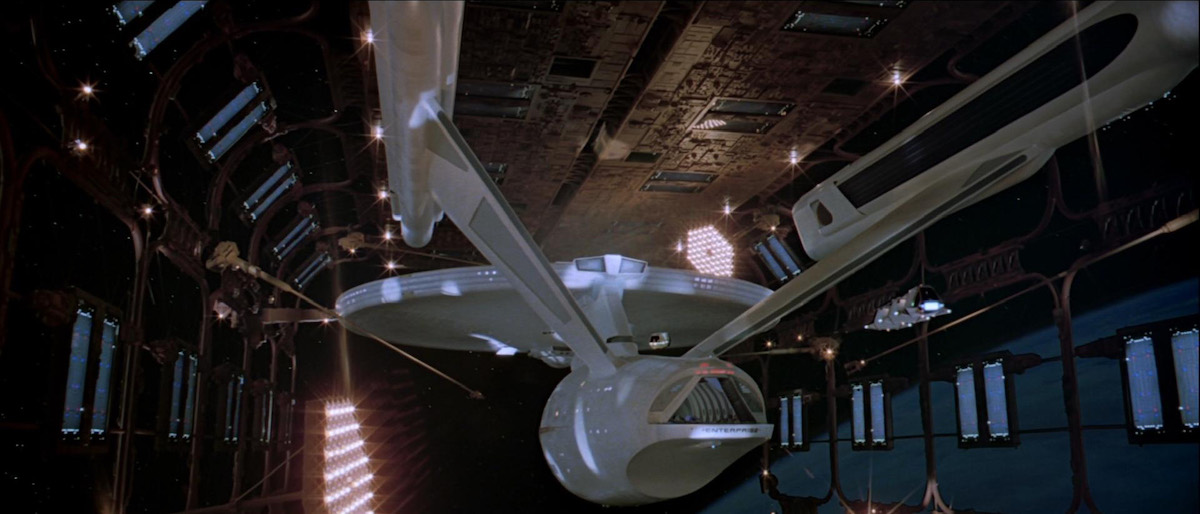 The Enterprise in dry dock, in  Star Trek: The Motion Picture