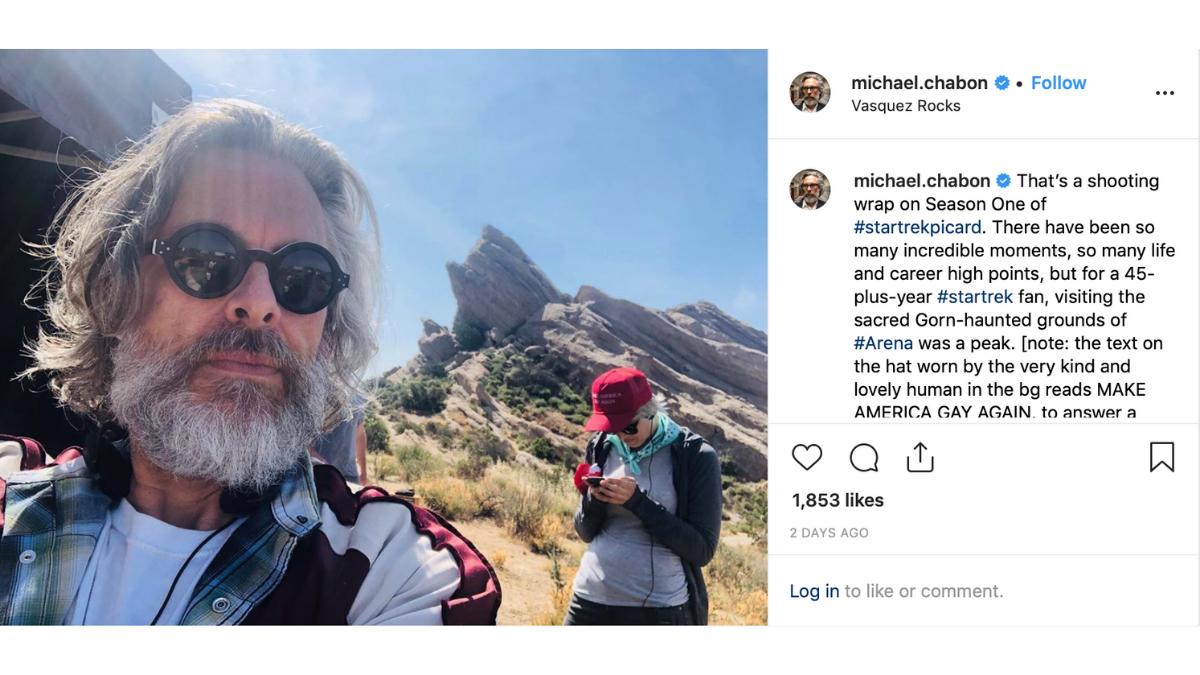 Michael Chabon on Instagram