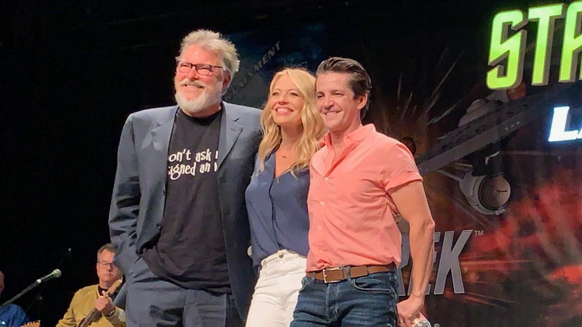 Jonathan Frakes, Jeri Ryan and Jonathan Del Arco at Star Trek Las Vegas 2019