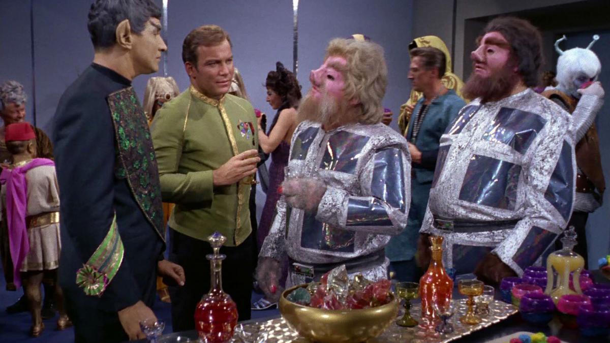 "William Shatner as Captain Kirk in ""Journey to Babel"""