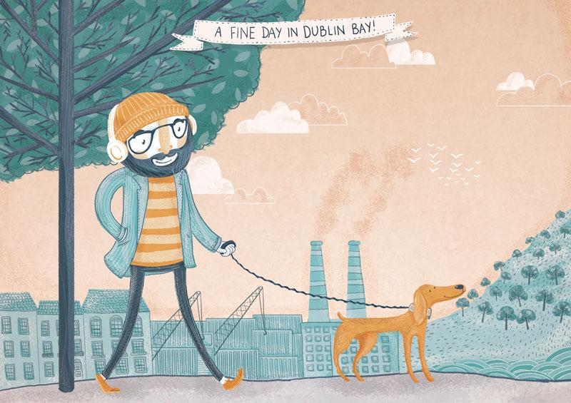 """""""A Lovely Day in Dublin Bay"""" - Jam Art Factory"""