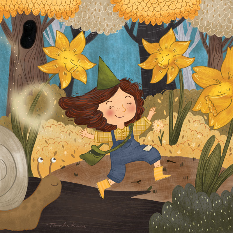 """Spring is here""- PJ March Calendar"