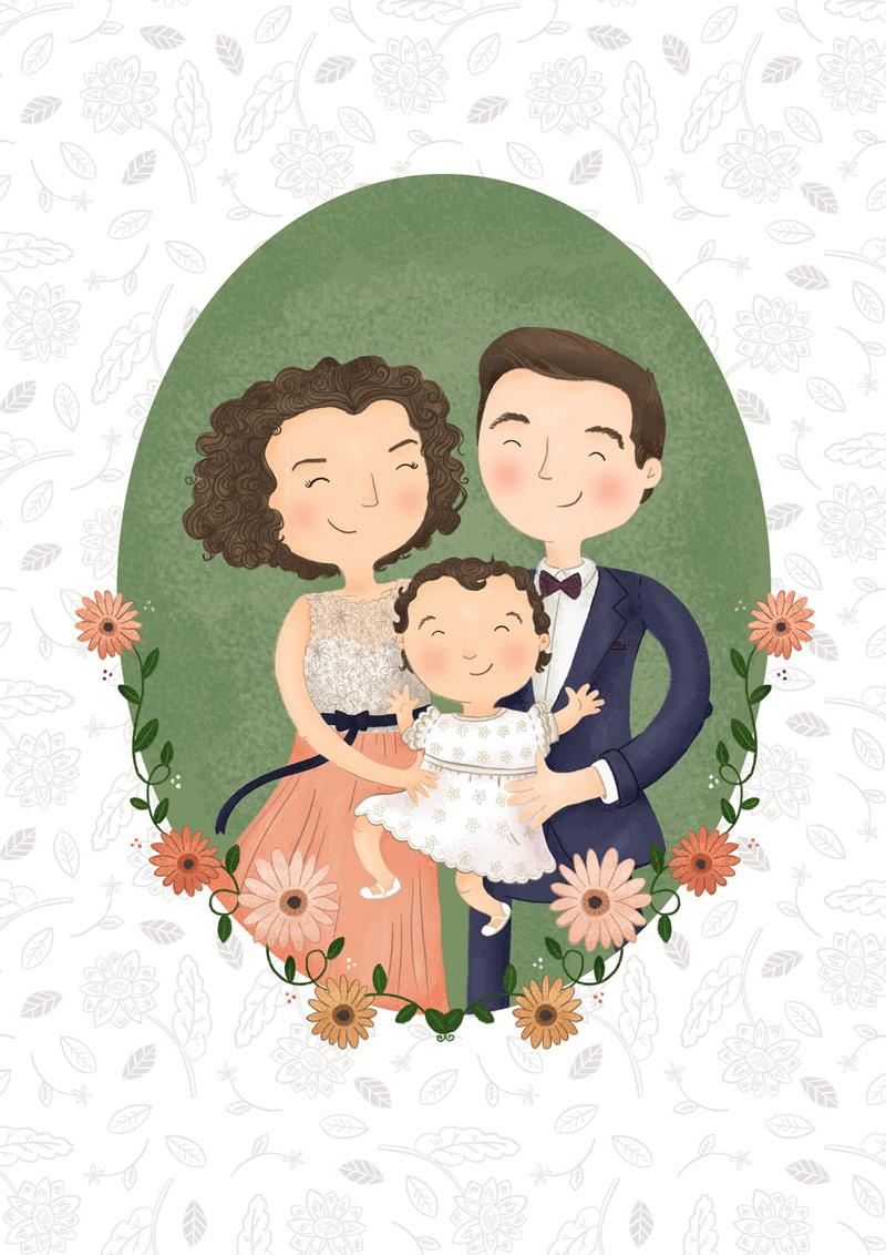 Flowery First Birthday - Family Portrait