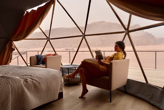 Our accommodation in the Wadi Rum desert, Jordan