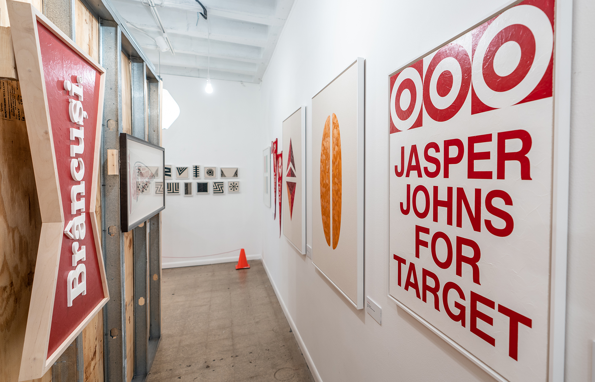 """""""Budweiser by Brancusi"""" and """"Jasper Johns for Target"""" on """"Bunker Solaris"""" exterior at Culture House (Washington, DC 2019)"""