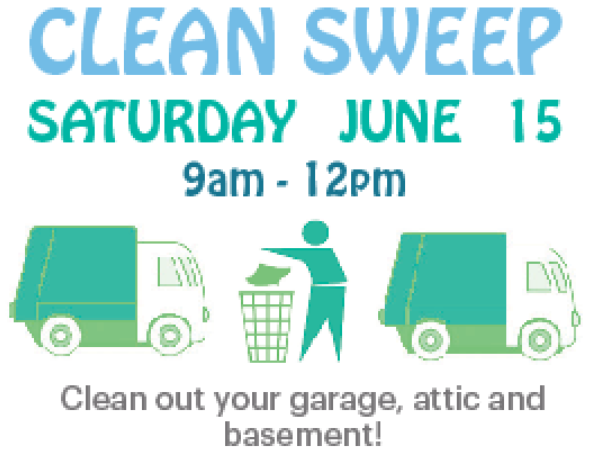- If you live in Sheridan, place items in alley or on curb by 9am on Saturday, June 15 and they will be picked up.