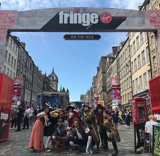 Pirates on the Mile! If you see us out and about come and say hi, and don't forget to tell your friends that they can see #Piramania the Swashbuckling Pirate Musical at 4:35 in @underbellyedinburgh 's #Cowbarn every day (not 12) for the rest of the Fringe! #royalmile #royalmileedinburgh #scotland #edinburghfringe #EdinburghFringe2019 #Edinburgh #musicaltheatre #pirates #comedymusical #crew #dacrew #skrrt #dab