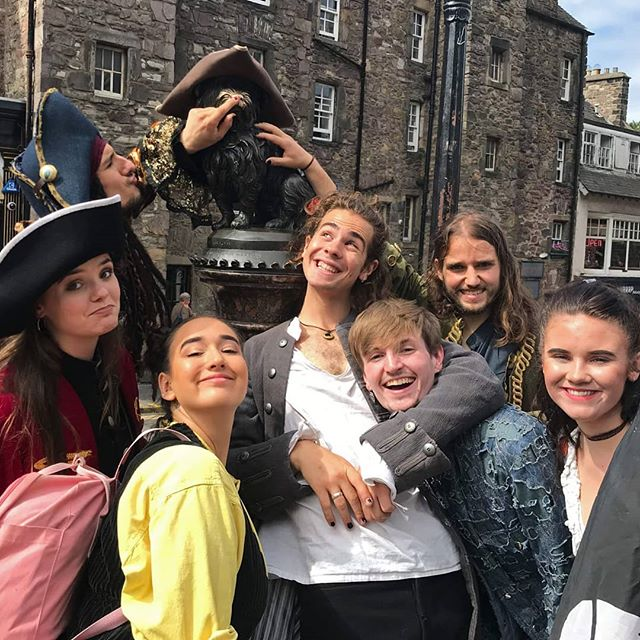 We're back☠️Piramania! is on for twelve more shows at 4:35 every day the rest of the Fringe! We can't wait to see you there #greyfriarsbobby #pirates #edinburgh #edfringe #luck #EdinburghFringe2019 #musicaltheatre #musical #fringefestival