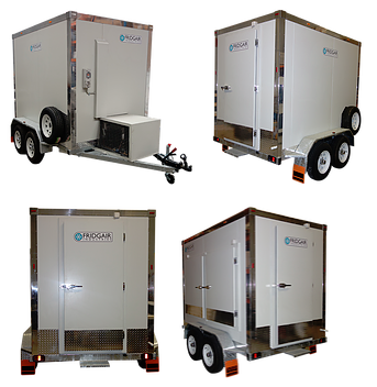 2.5m x 1.6m x 1.9m Coolroom or Freezer - This mobile coolroom can be set as a fridge or a freezer with a temperature range of +15 degrees to - 16 degrees C.SpecificationsInternal dimensions = 2.5m long x 1.6m wide x 1.9m highDual Axle heavy duty trailerTemperature adjustable from +15 to -15 degreesRear entry door2x large side access doorsStandard 10 amp plug