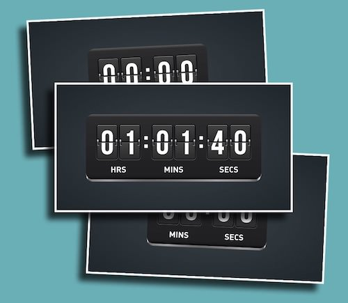 Flip Counter - A timer with a virtual take on a classic design.