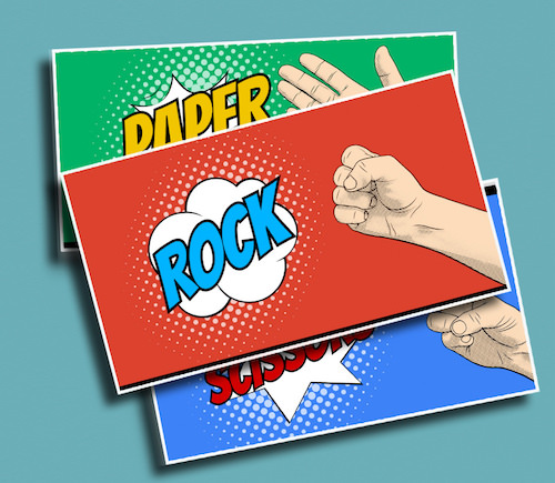 Rock Paper Scissors - A great way to play Rock, Paper, Scissors with a big group of students at once.