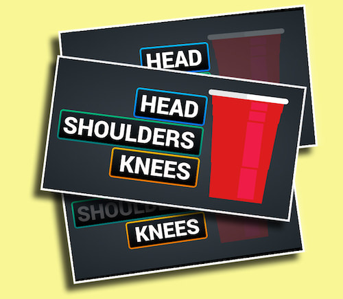 Head Shoulders Knees & Cup - A head-to-head game that has two students focusing on grabbing a red cup from a chair.