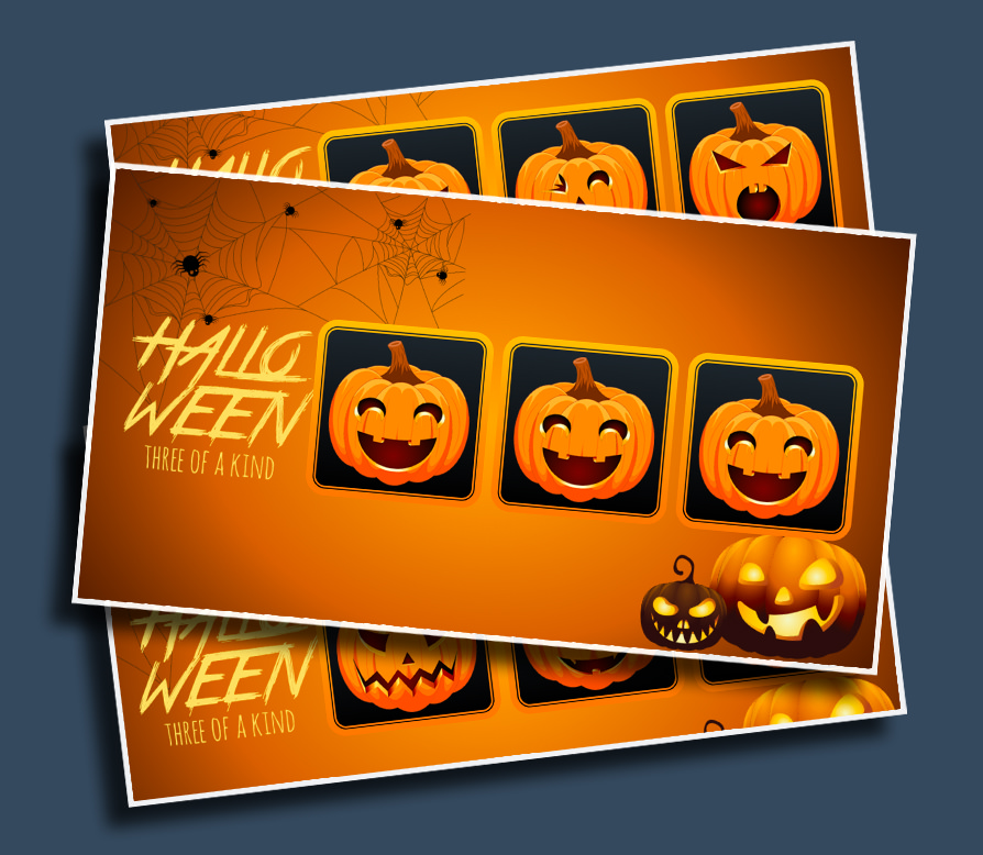 """Halloween Three of a Kind - Just yell, """"STOP!"""" and see if you can land on a three of a kind!"""