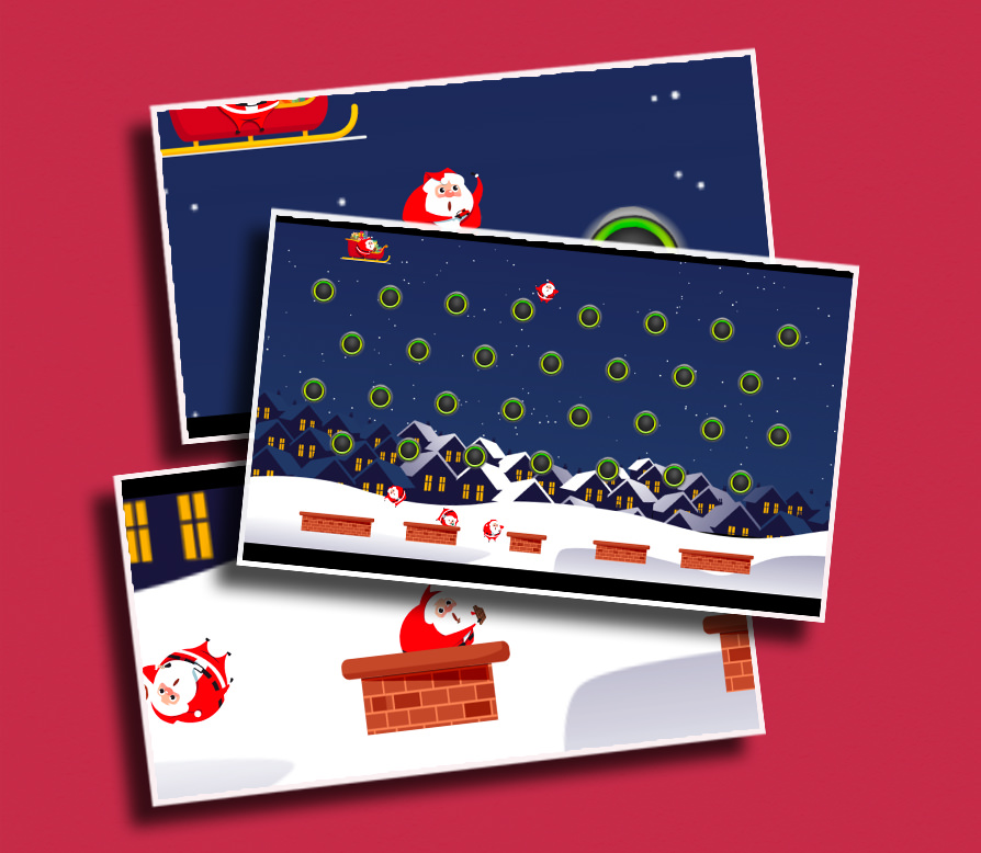 Santa Drop - Drop Santas through a series of pegs and try to land them in the chimneys!