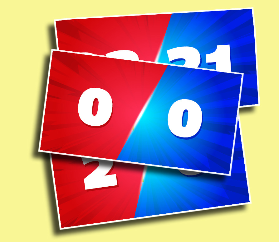 Red vs Blue - The perfect scoreboard for head-to-head competitions!