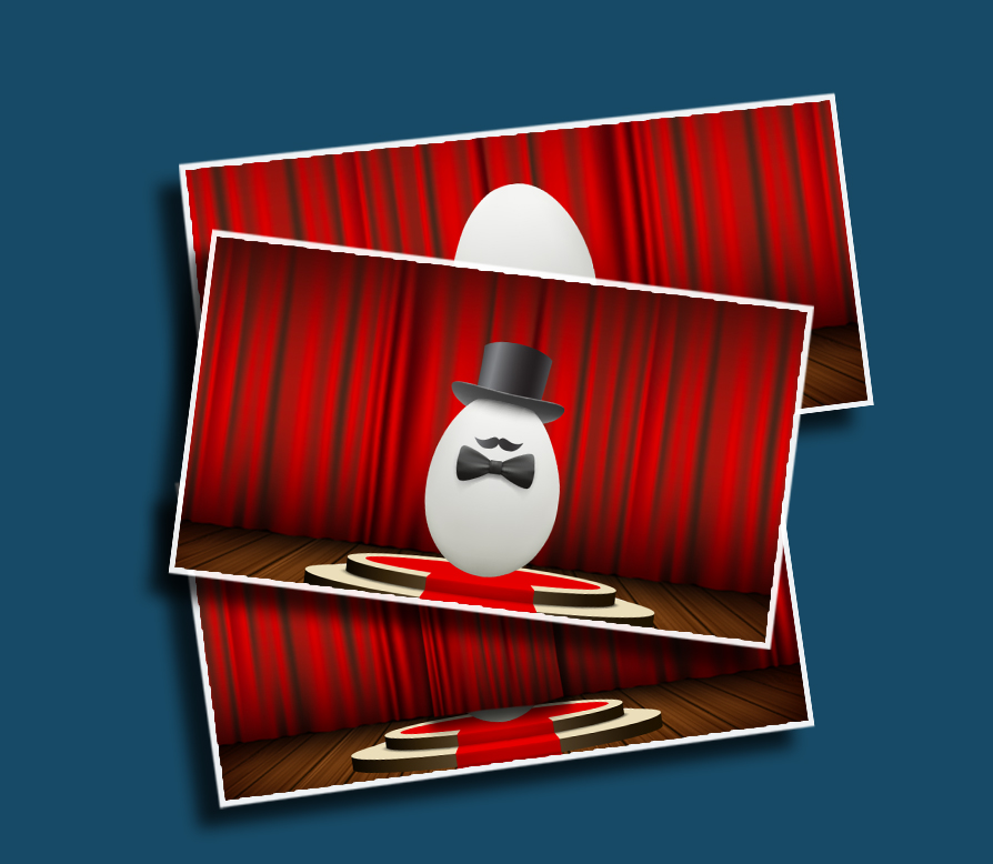 Fancy Egg - What's behind the curtain? A normal, boring egg? Or the fanciest egg you've ever laid your eyes upon!?!?