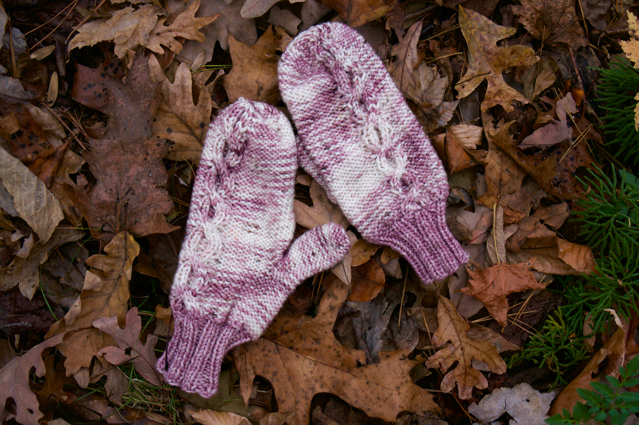 Circle Cable Mitts - $6.99