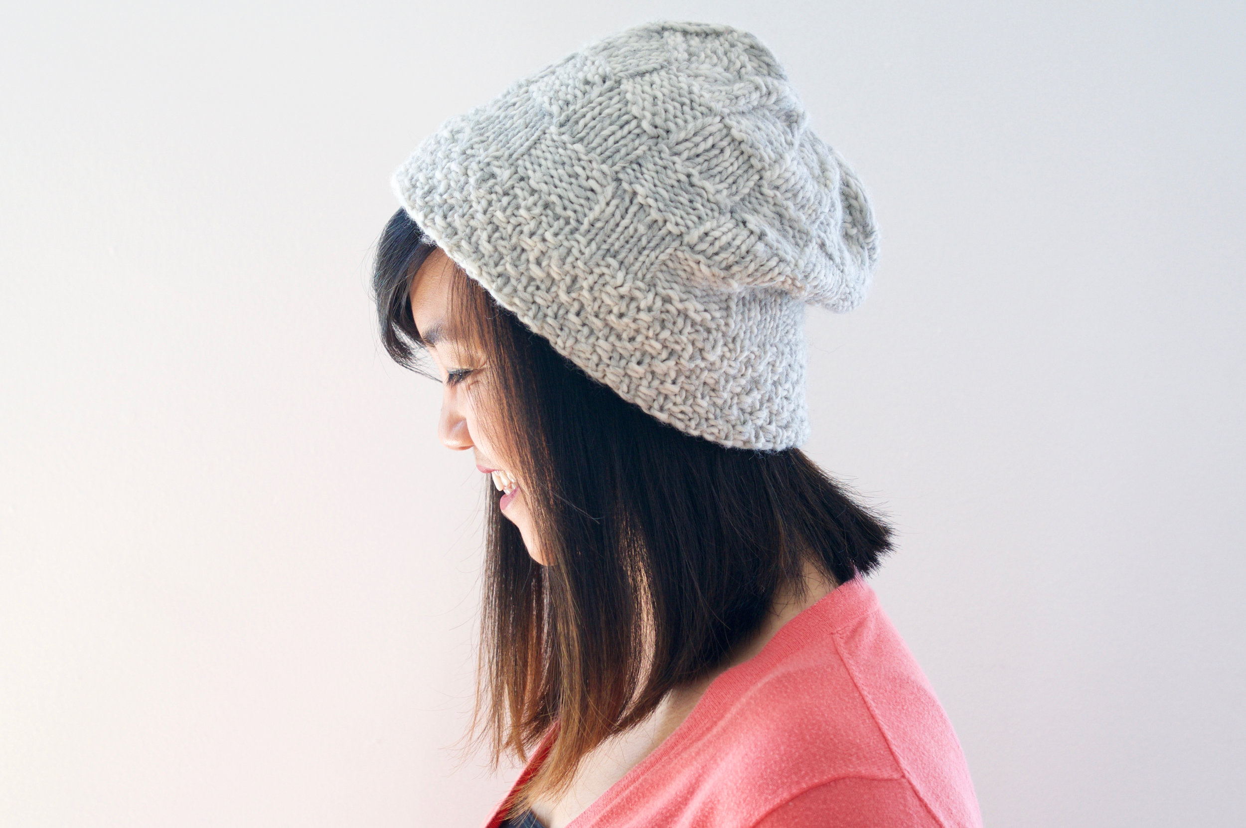 You can get the pattern for the Basketseed Beanie free when you  sign up to my newsletter .