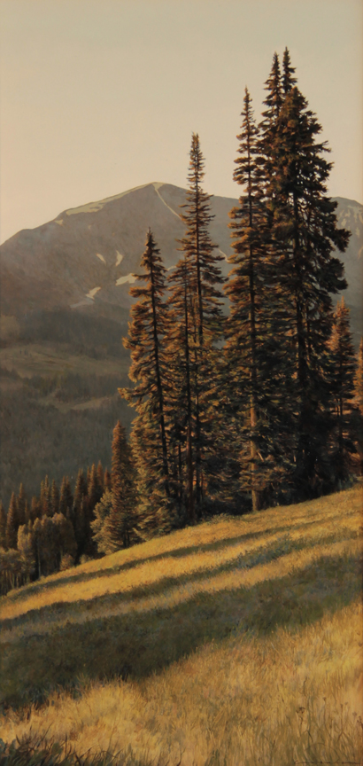 Standing Tall on Kebler Pass. Oil on Panel SOLD
