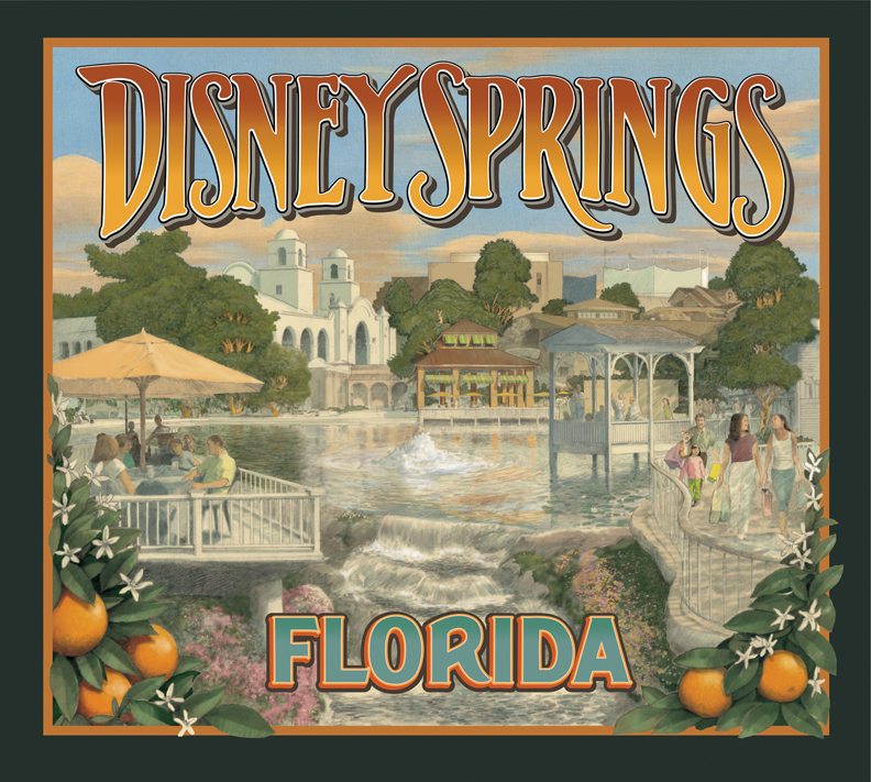 Disney Imagineering enlisted my help to sell Disney Springs to upper management. This was blown way up for a conference.
