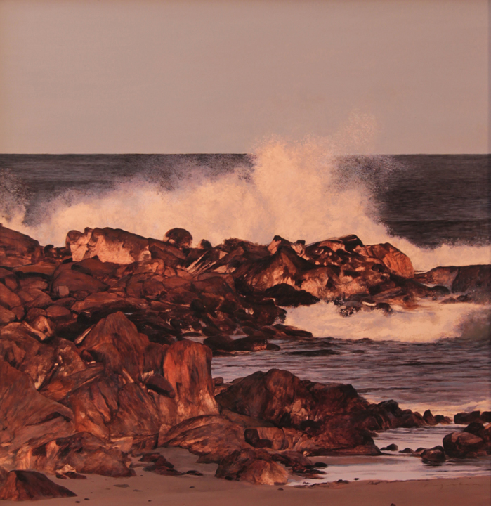 Seapoint Surf - Oil on Panel