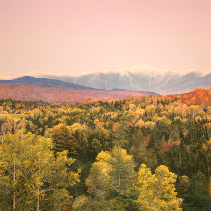 Mount Washington Autumn - Oil on Panel