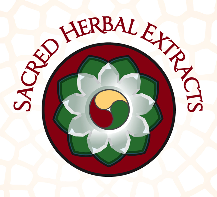 Sacred Herbal Extracts - Logo - Nine-pointed crystal lotus flower
