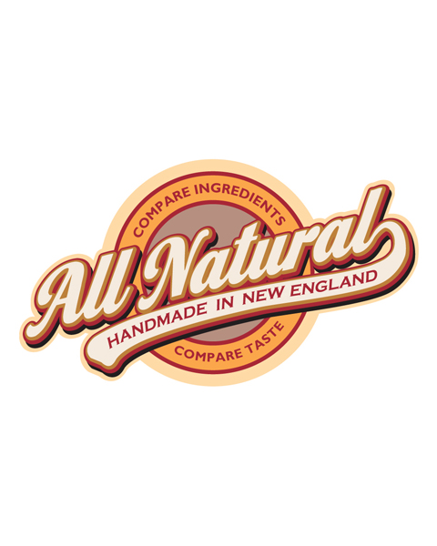 All Natural - Homemade in New England- Emblem