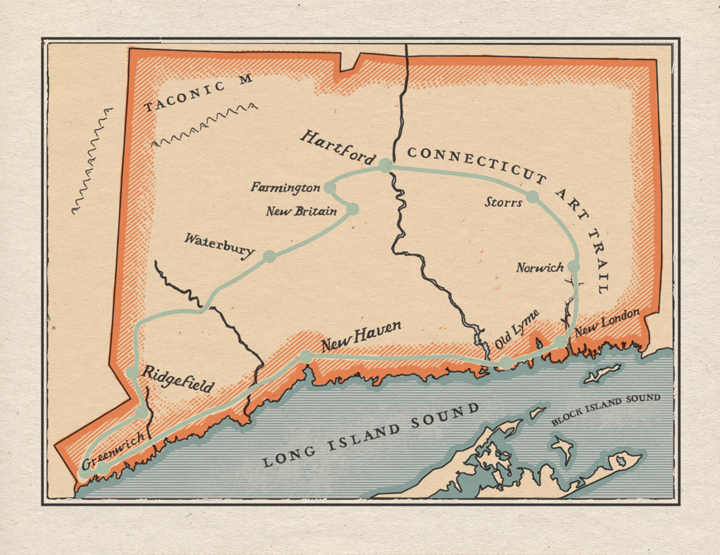 Connecticut Map for Yankee Magazine