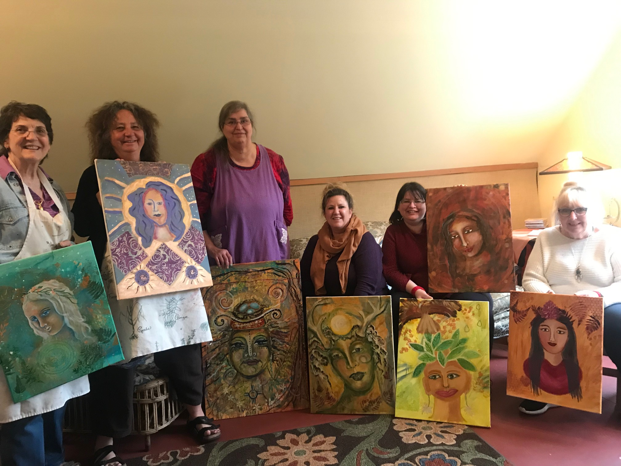 Spiritual Art workshop with Artist Nadya King, held at the Seichim Center