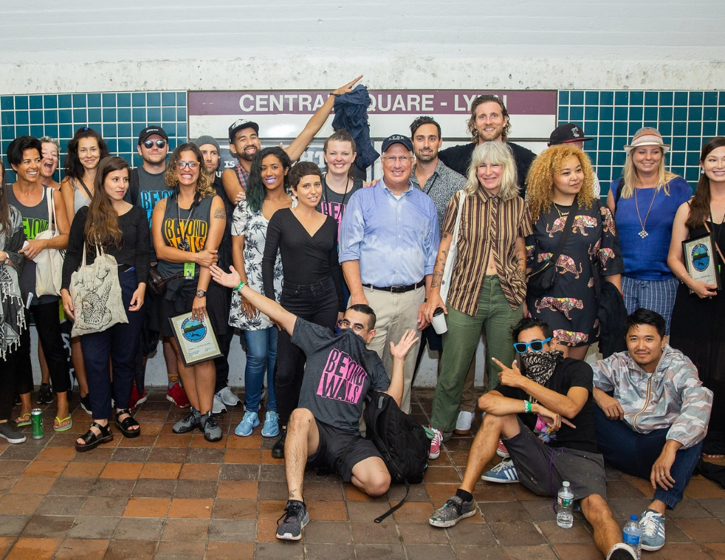 2018 Mural Festival Artists and Staff with Mayor Thomas McGee