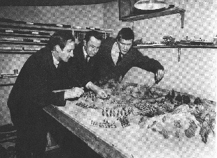 Club History - Mike Warman started the Club in 1964 in Street, Somerset. Games were played by these early members using the sand table in his shed. Airfix plastic, American Civil War and Roman Figures were the Order of the day, before Hinton Hunt Napoleonic figures arrived in 1966, the metal age had arrived.
