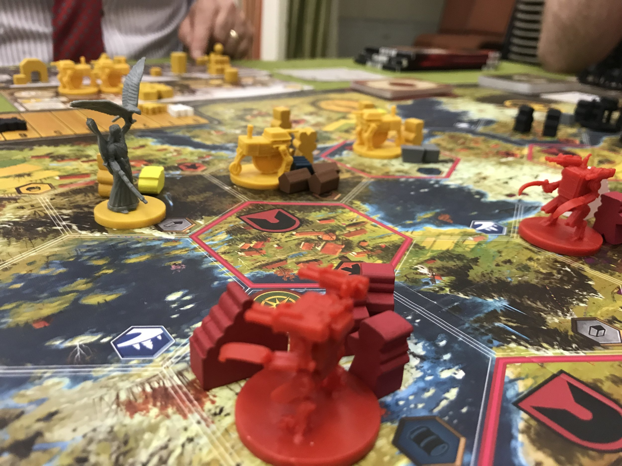 Scythe: out Farm & fight your NEIGHBOR for victory - Set in an alternate 1920's reality, Scythe is beautifully designed Euro game allowing your to cultivate your land in order to expand and build mechs to destroy your foes. Reputation or Power, the choice is yours.