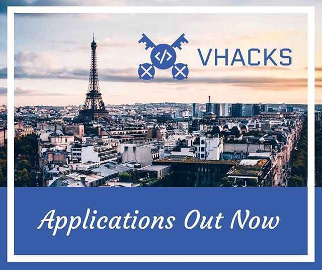 Applications for VHacks Global 2019 are OFFICIALLY OPEN! . Please visit https://www.vhacks.org and APPLY TODAY! . All applications will be reviewed on a rolling basis by members of our planning committee. . For additional questions/inquiries please contact team@vhacks.org. . Thanks again so much for your time, as we can't wait to review your application!