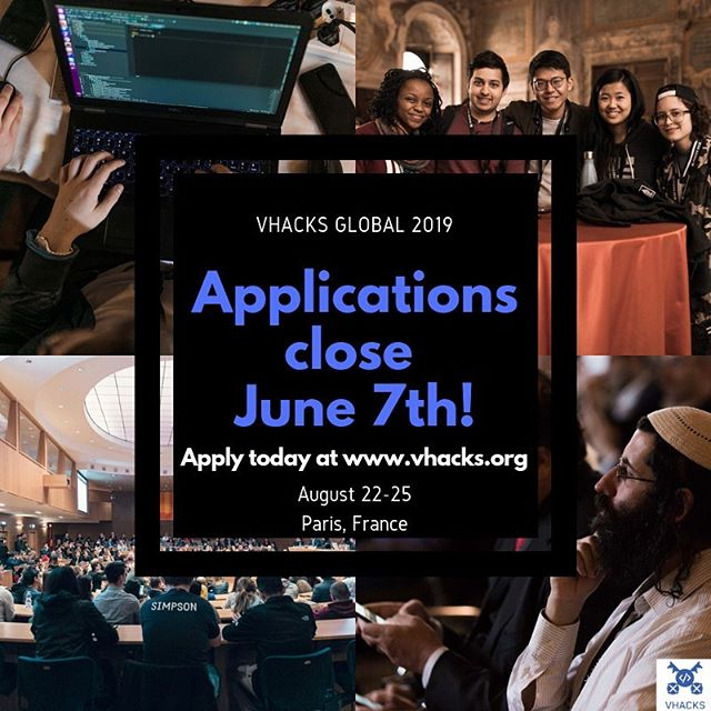 LAST CALL for #VHacksGlobal 2019 applications! Be sure to APPLY BY JUNE 7th! 📝 . . . . . . #VHacks#VHacksGlobal#Hackathon#Programming#Adobe#Paris#France#Apply#Opportunity#France#Ruby#Competition#International#Students