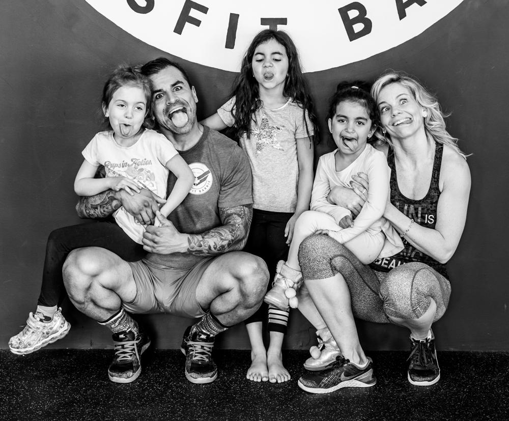 Raul & Family Funny B&W.jpg