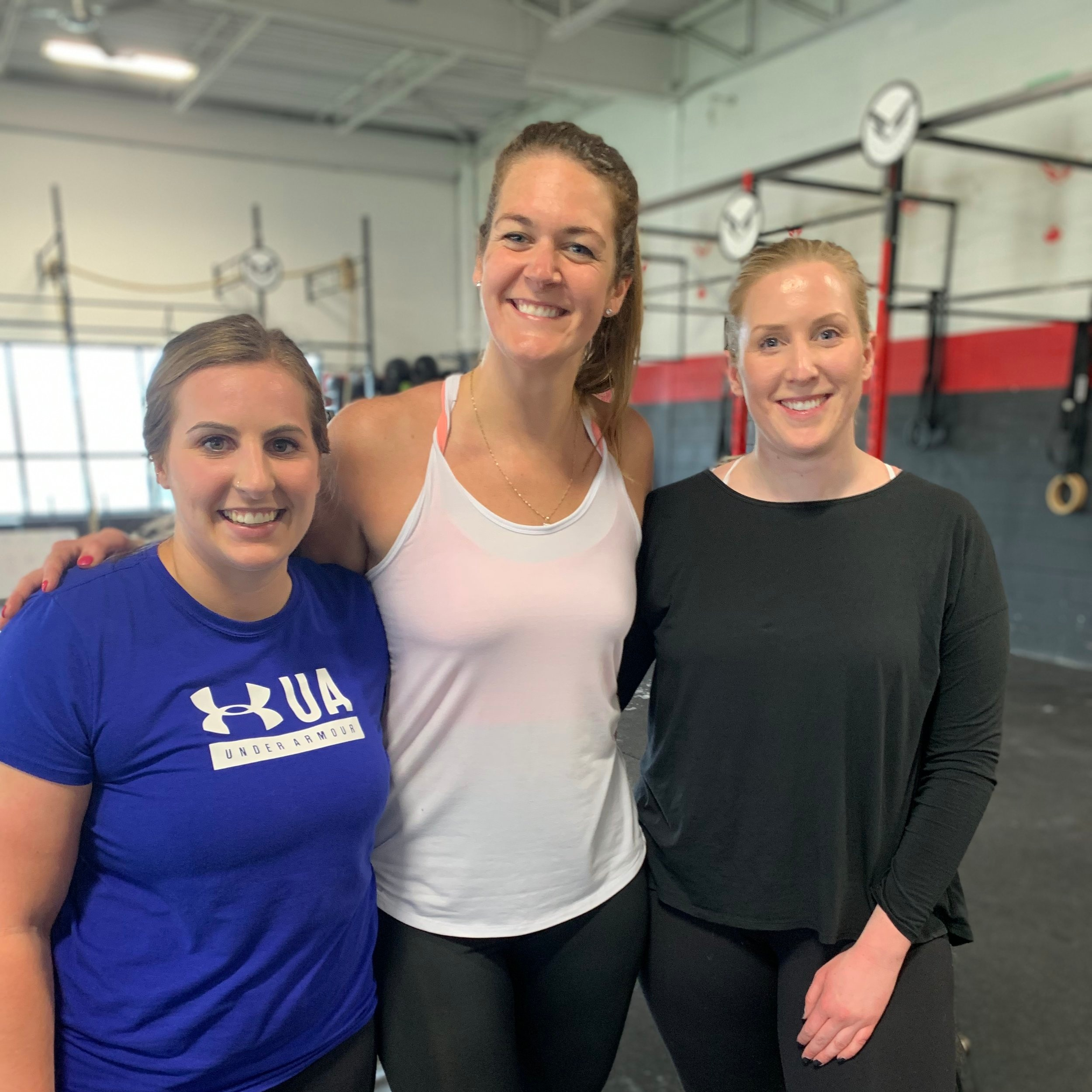 Nicole with buddies Andrea and Lindsay